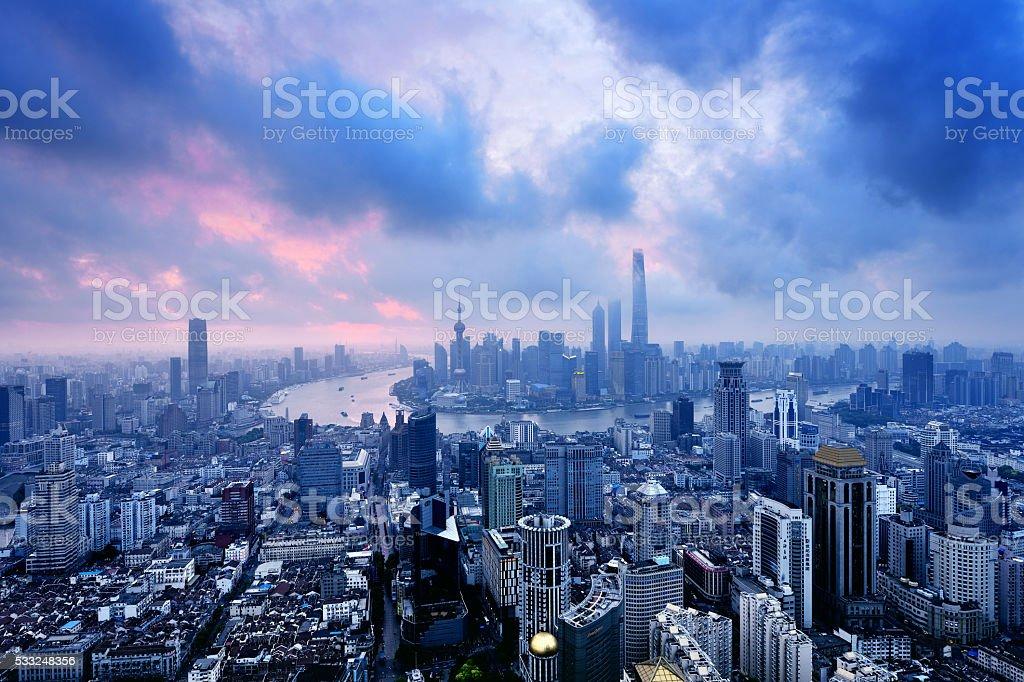 Shanghai Panoramic Skyline stock photo
