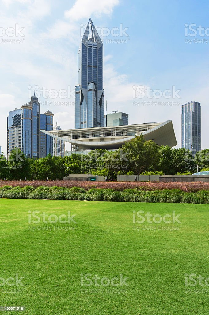 Shanghai people's square stock photo