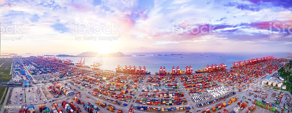Shanghai Port Container stock photo