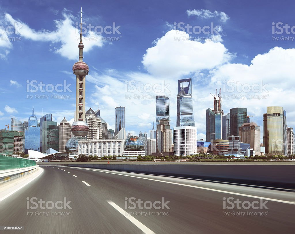 Shanghai Pudong beauty stock photo