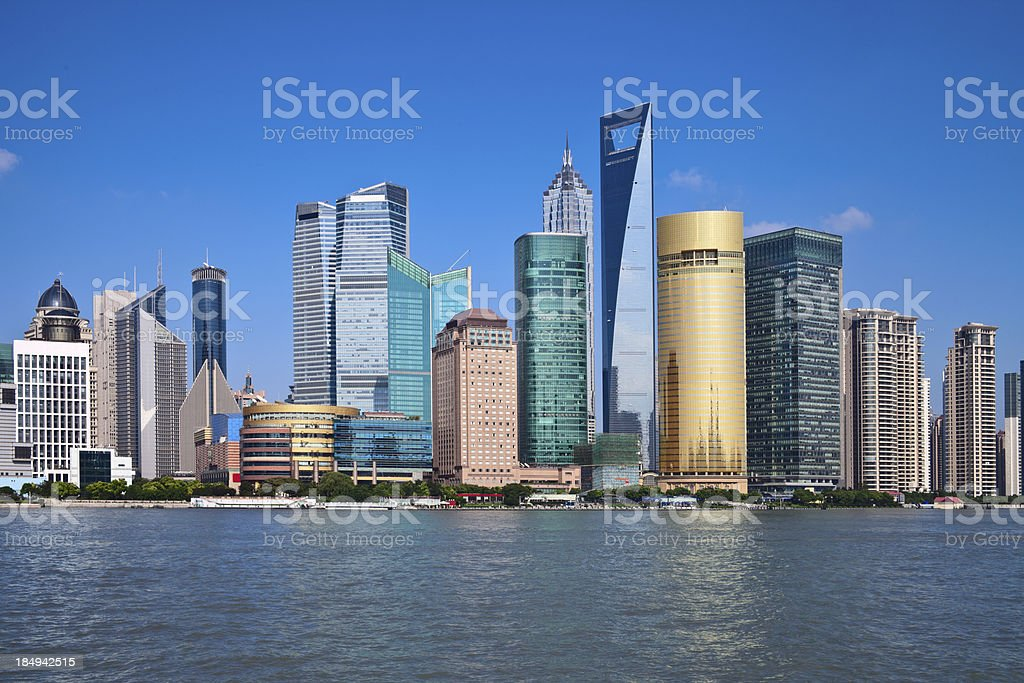 Shanghai pudong cityscape stock photo