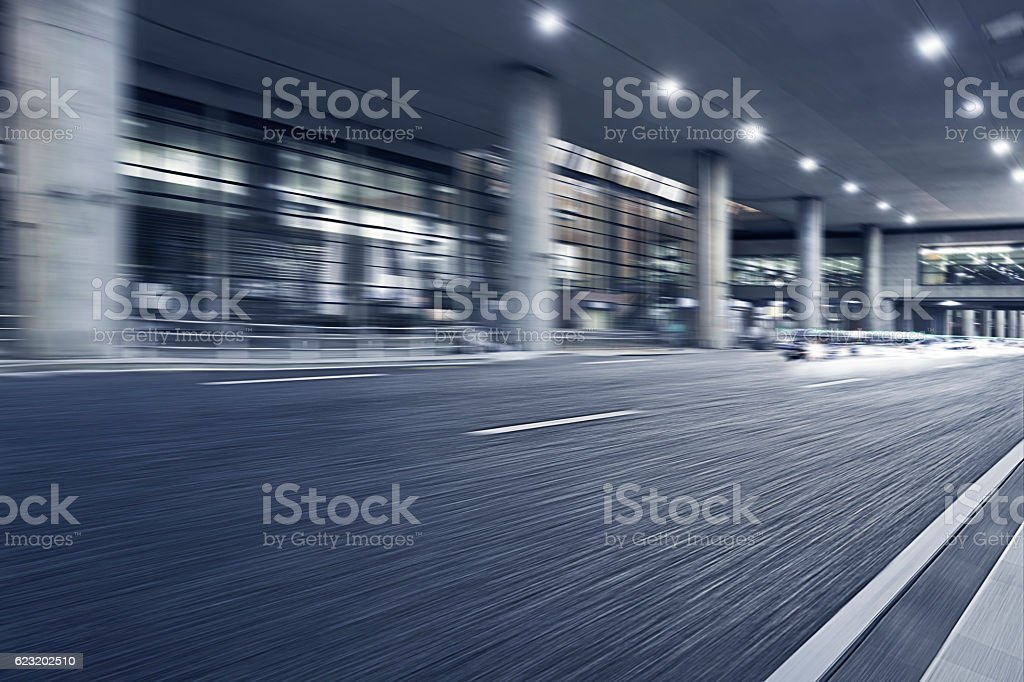Shanghai Pudong International Airport and road. stock photo