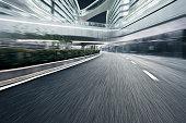 Shanghai Pudong International Airport and road.