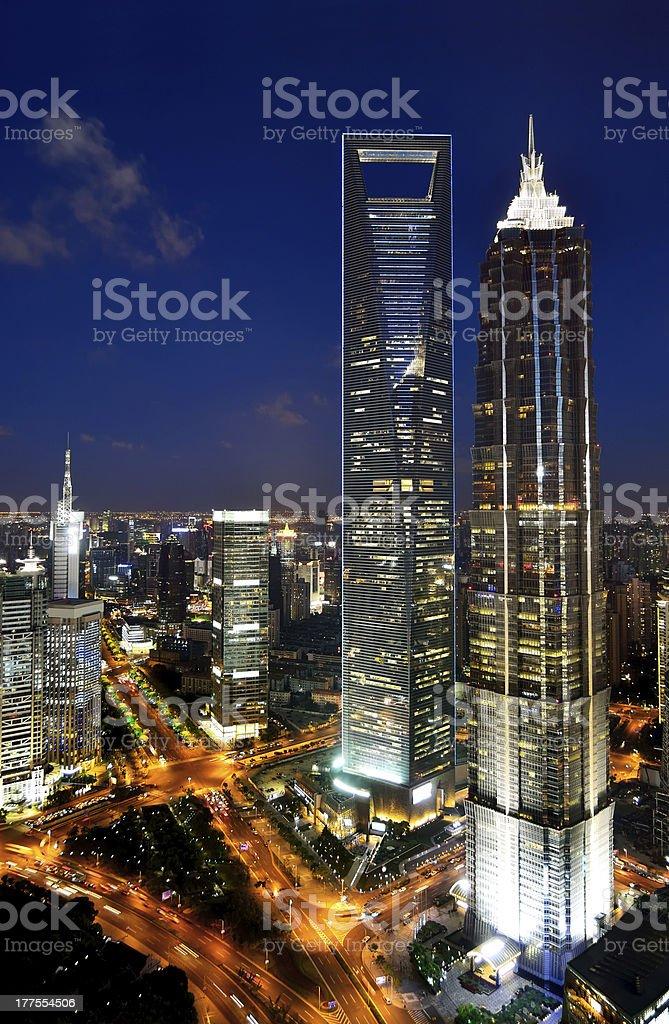 Shanghai Pudong Lujiazui royalty-free stock photo