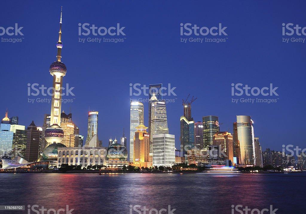 Shanghai Pudong Night view royalty-free stock photo