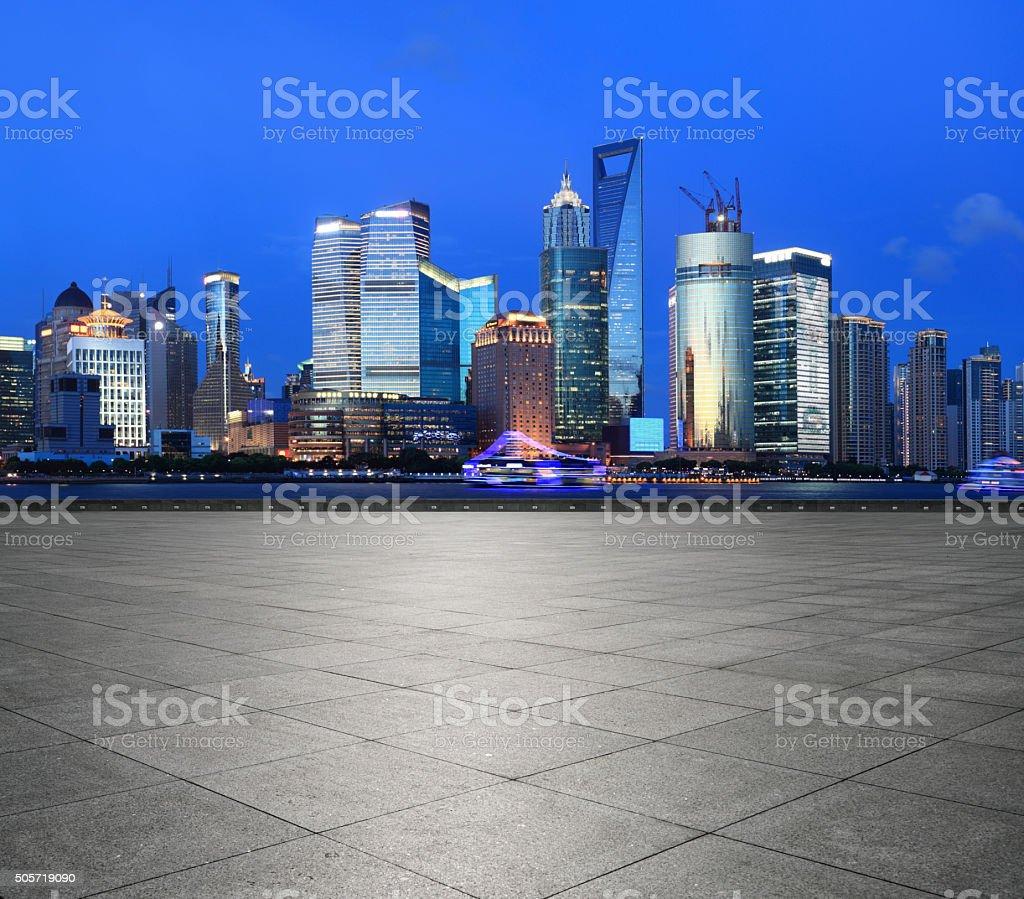 Shanghai Pudong Night view stock photo
