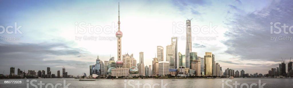 Shanghai Pudong skyline stock photo