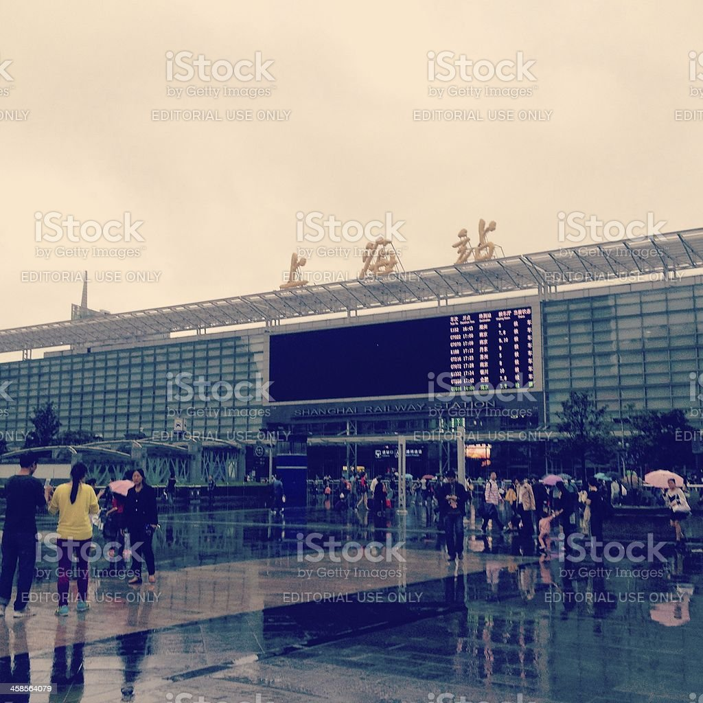 Shanghai Railway Station royalty-free stock photo