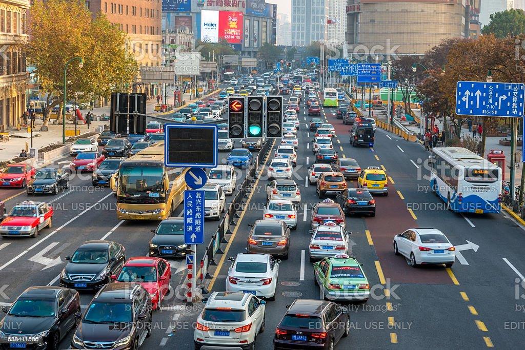 Shanghai road stock photo