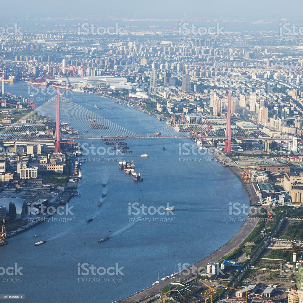Shanghai skyline latest stock photo