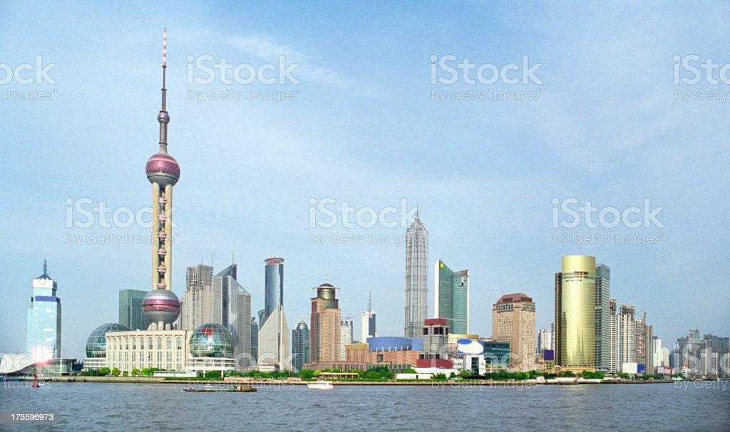 Shanghai skyline royalty-free stock photo