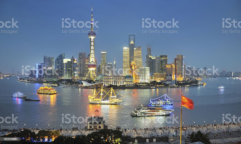 Shanghai Skyline (XXXL) royalty-free stock photo
