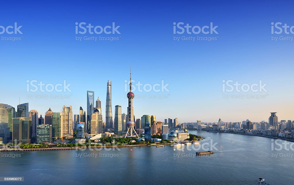 Shanghai Skyline stock photo