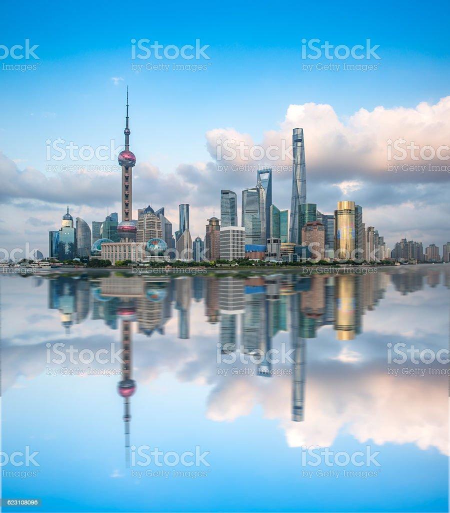 Shanghai skyline with modern urban skyscrapers, China stock photo