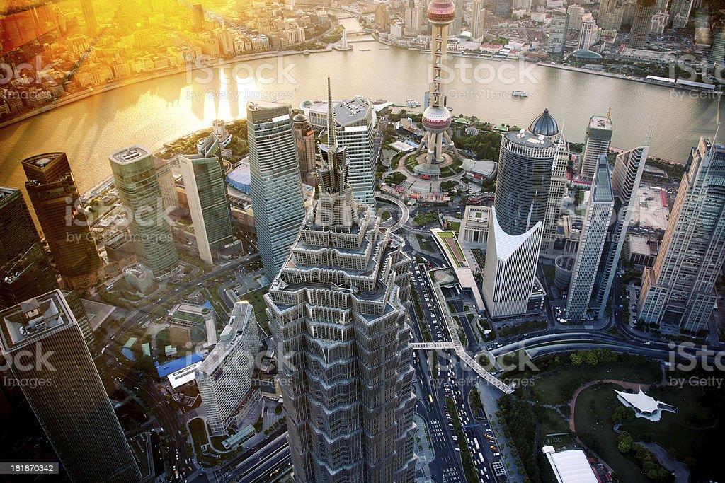 Shanghai Skyscraper stock photo