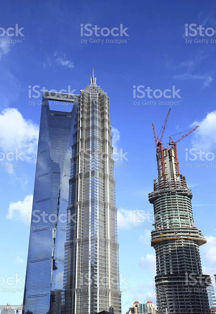 Shanghai Skyscraper royalty-free stock photo