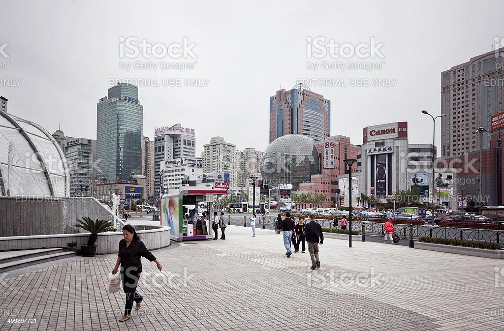 Shanghai street scene royalty-free stock photo