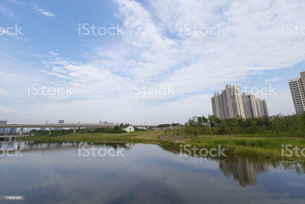shanghai suburban stock photo