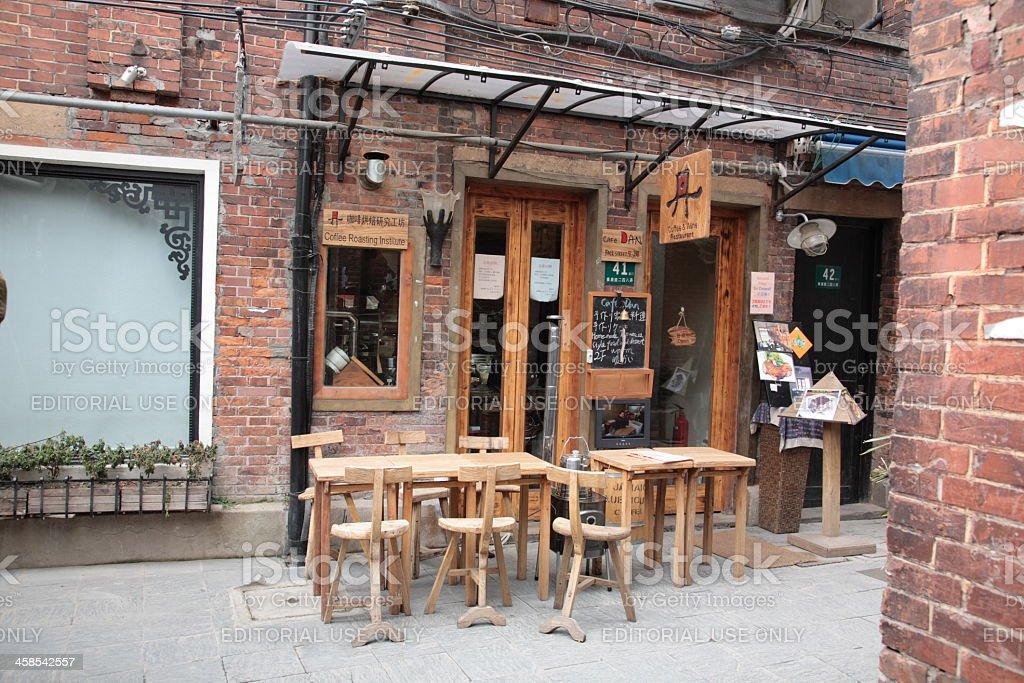 Shanghai Tianzifang Art Street stock photo