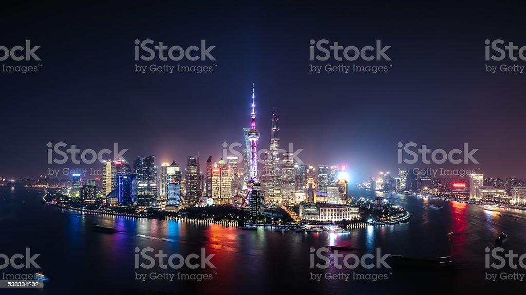shanghai urban skyline stock photo