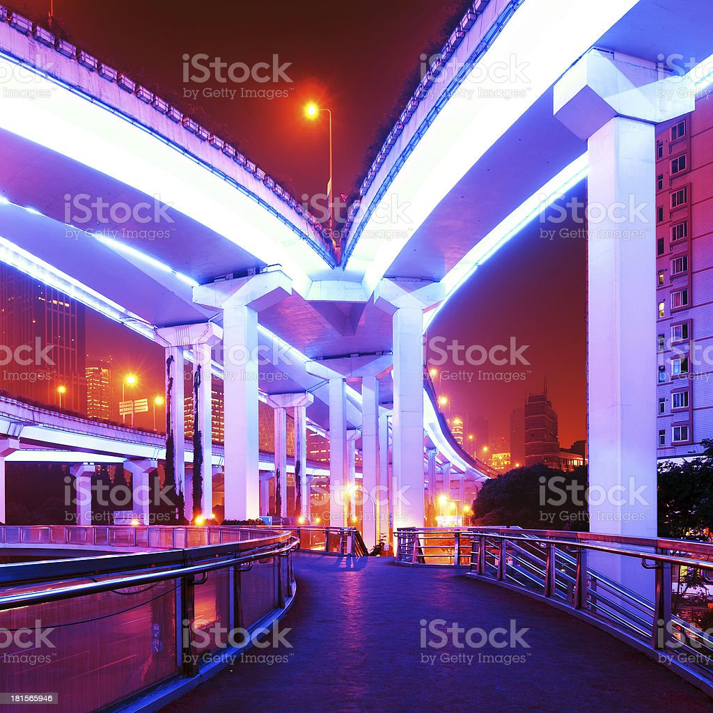 Shanghai viaduct royalty-free stock photo
