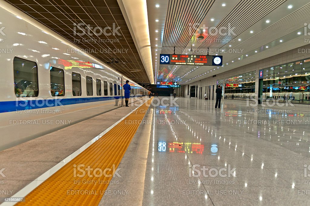 Shanghai West Railway Station China royalty-free stock photo