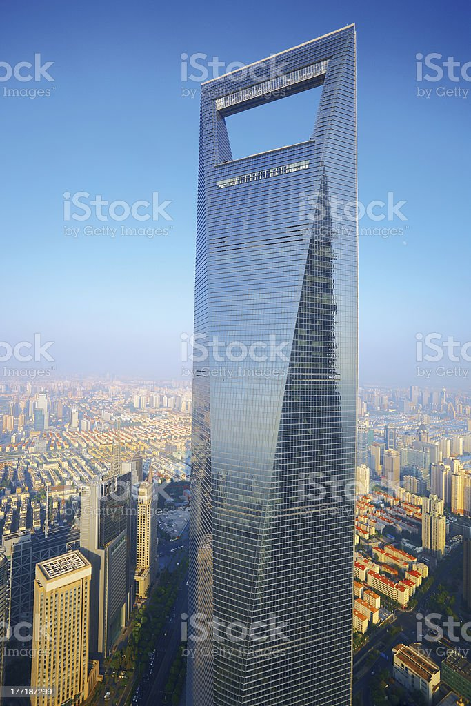 Shanghai World Financial Center royalty-free stock photo