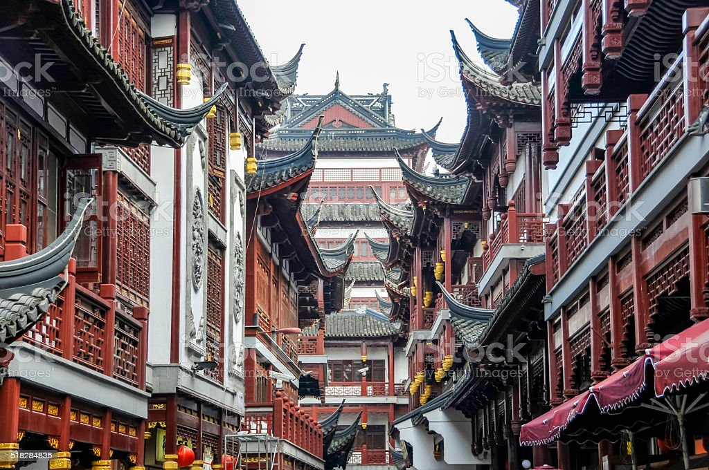 Shanghai Yu Yuan Garden stock photo
