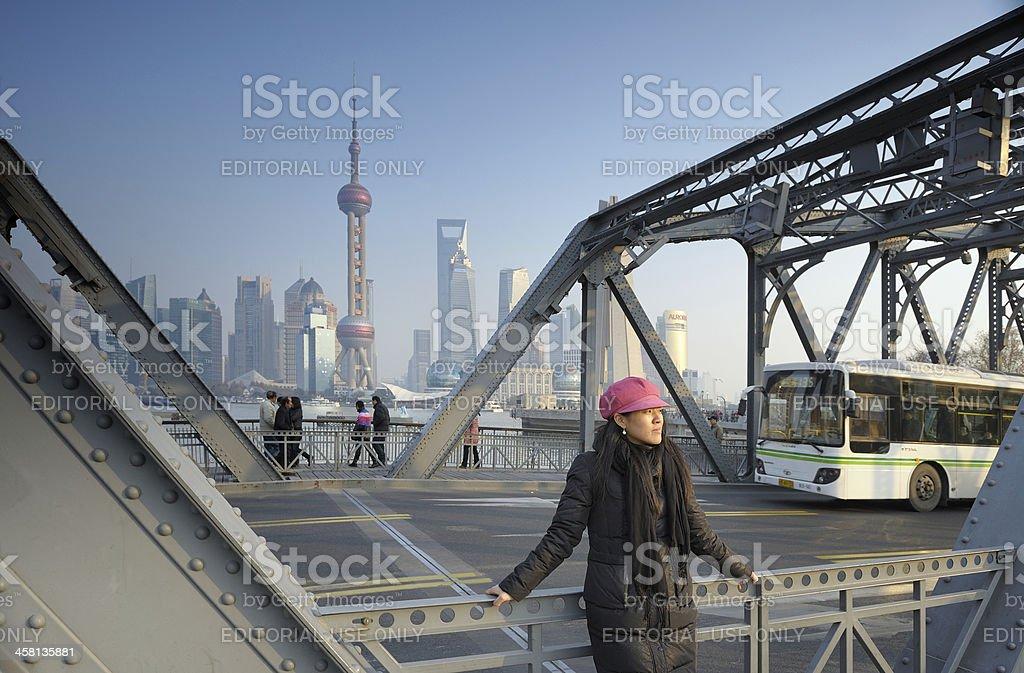 Shanghai's Bund in winter royalty-free stock photo