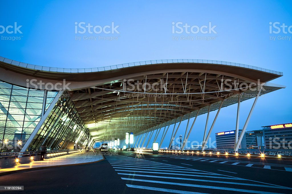 Shanghai's Pudong International Airport stock photo