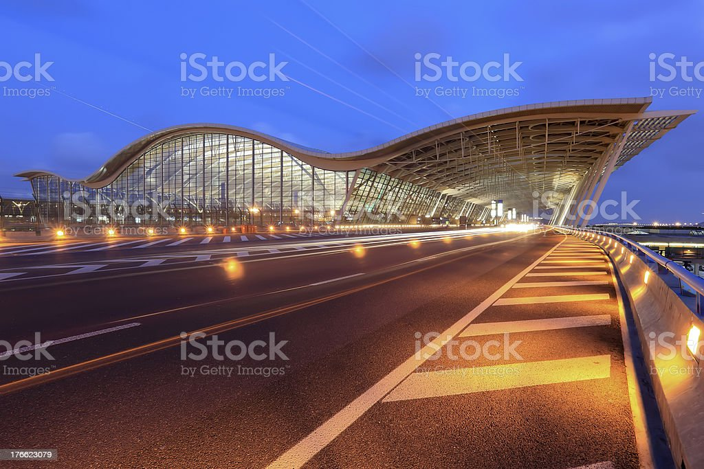 Shanghai's Pudong International Airport. royalty-free stock photo