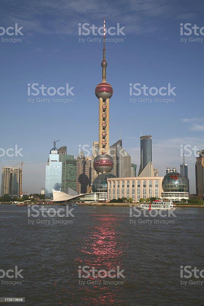 Shanghai's reflections stock photo
