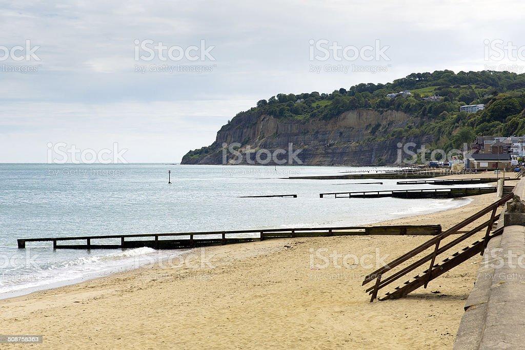Shanklin beach Isle of Wight IOW stock photo