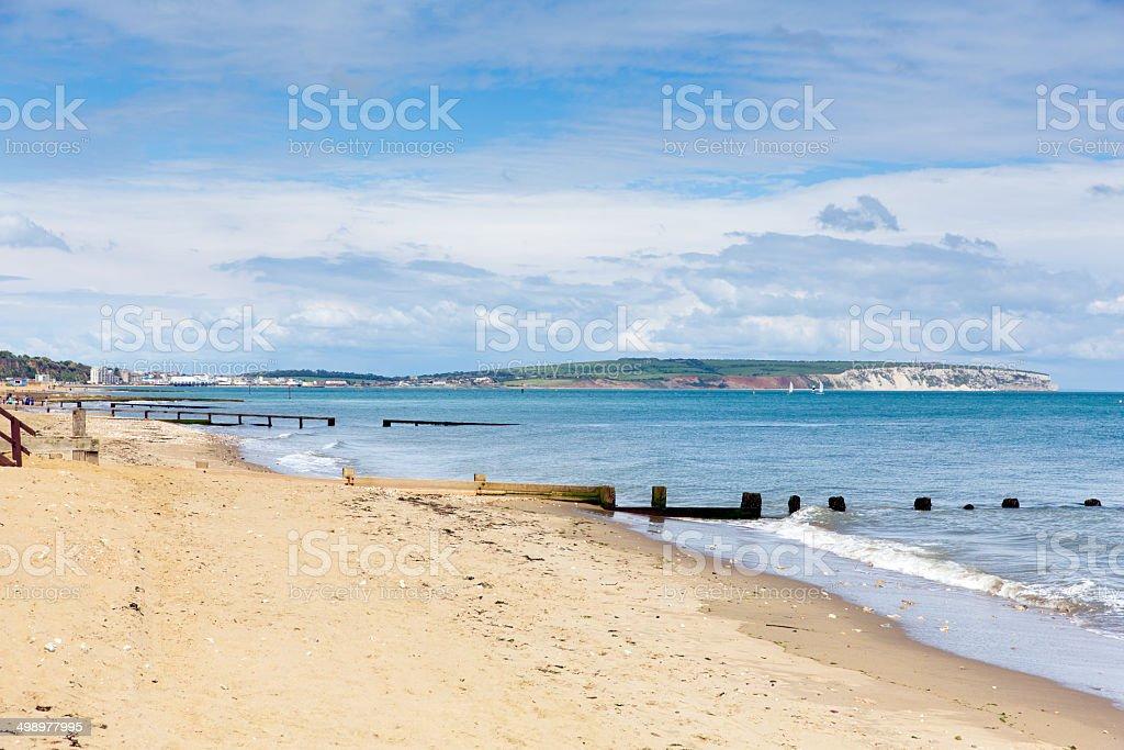 Shanklin beach Isle of Wight stock photo