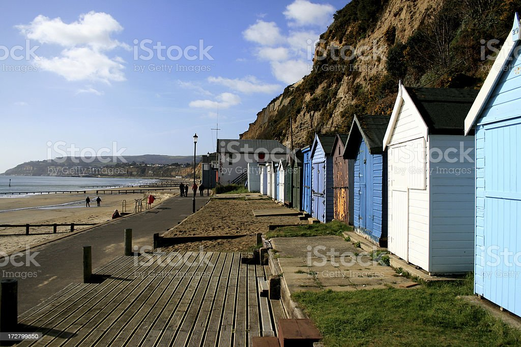 Shanklin Sea front on the Isle of Wight stock photo