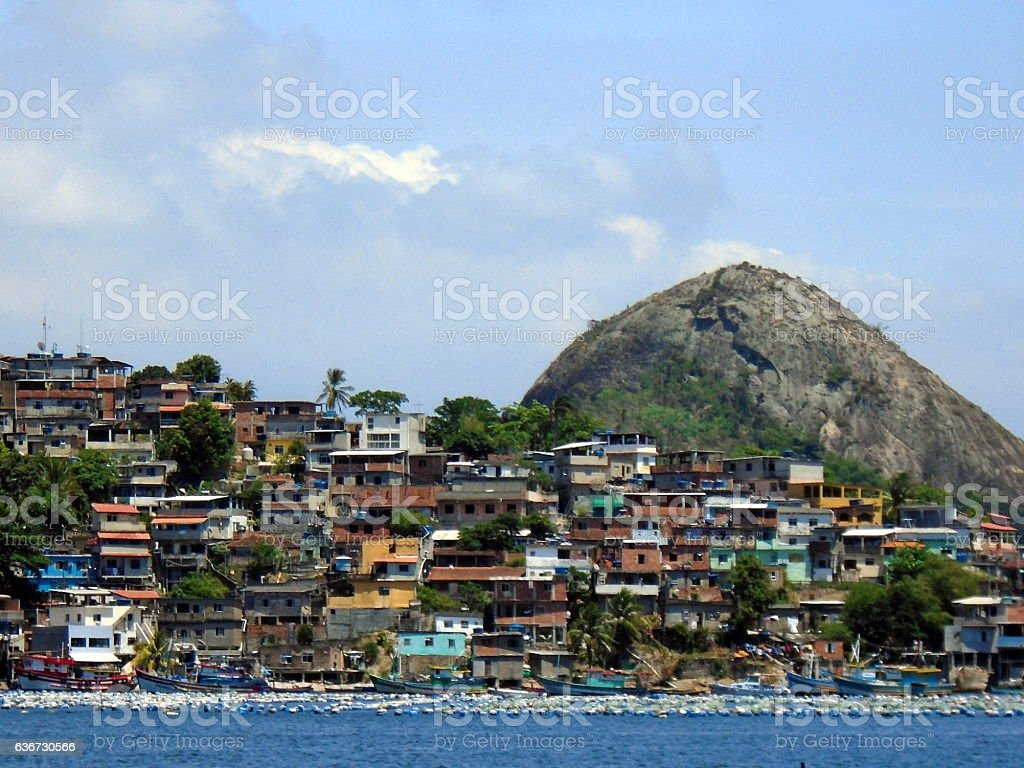Shanty town in Niterói, Rio de Janeiro, Brazil stock photo