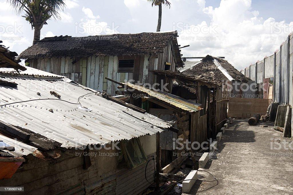 Shanty town stock photo