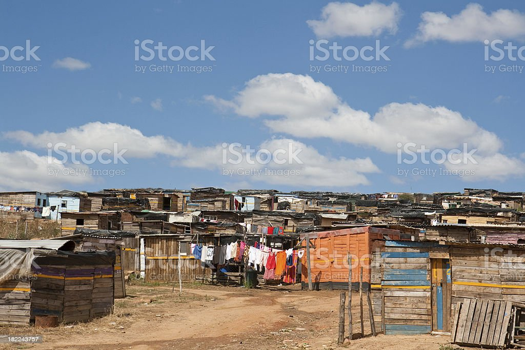 shanty town royalty-free stock photo