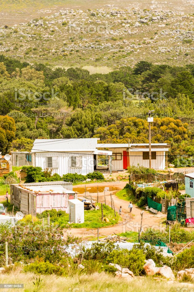Shanty Town South Africa stock photo