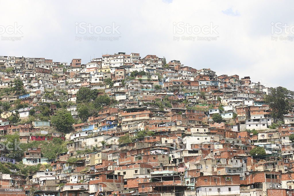 Shantytown in South America royalty-free stock photo