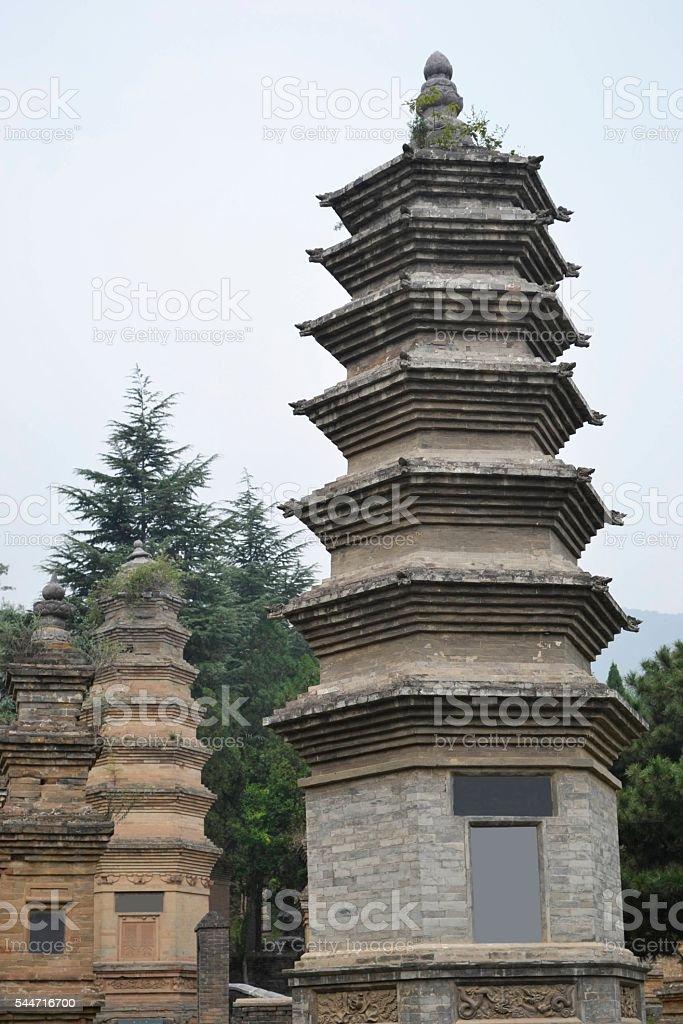 Shaolin, graves stock photo