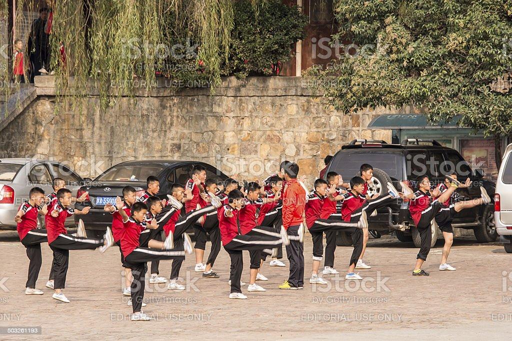 Shaolin Kung Fu stock photo
