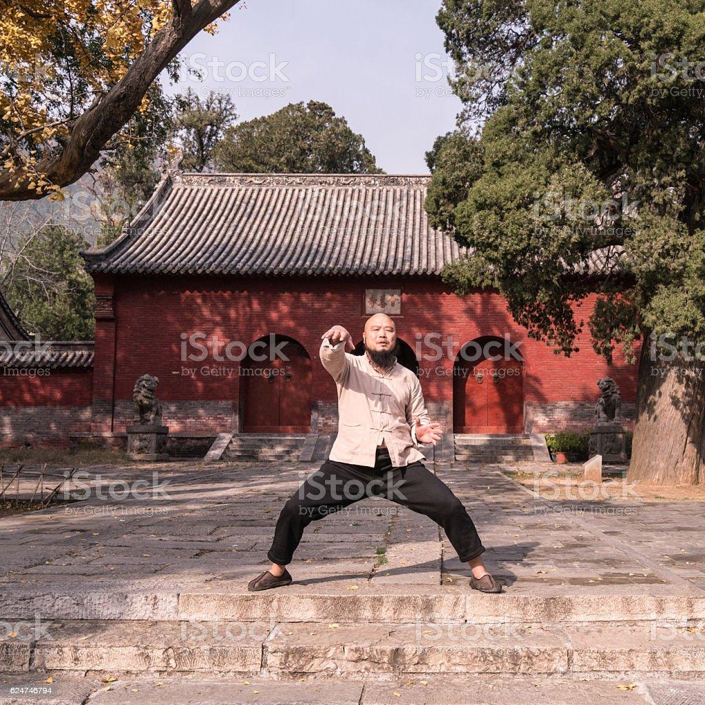 Shaolin monk stock photo