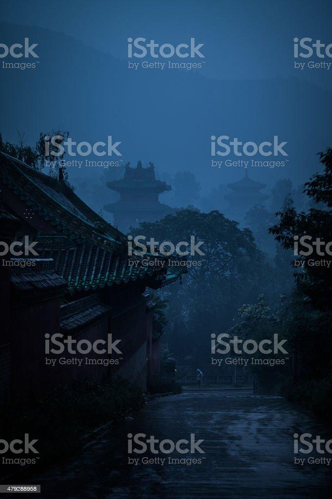 Shaolin temple stock photo