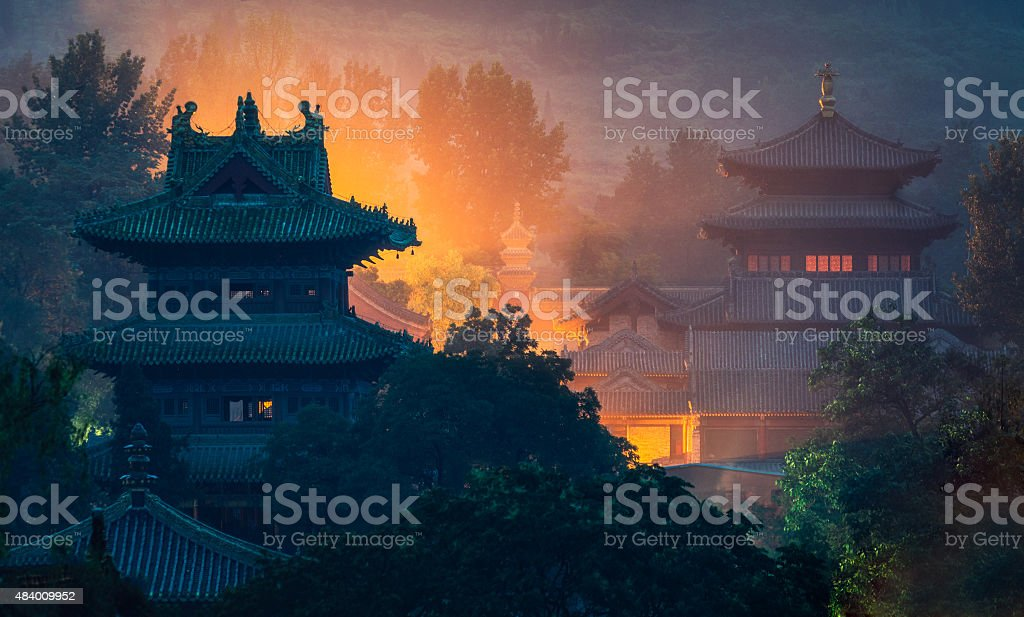 Shaolin temple stock photo