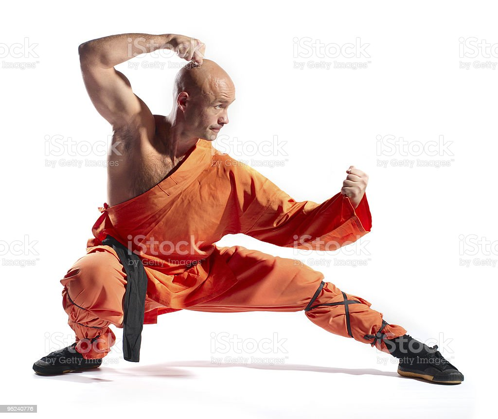 Shaolin warrior monk stock photo