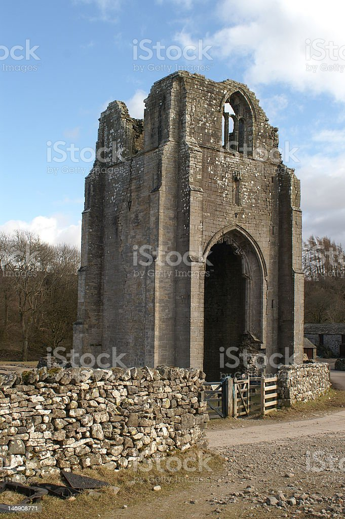 Shap Abbey Tower stock photo