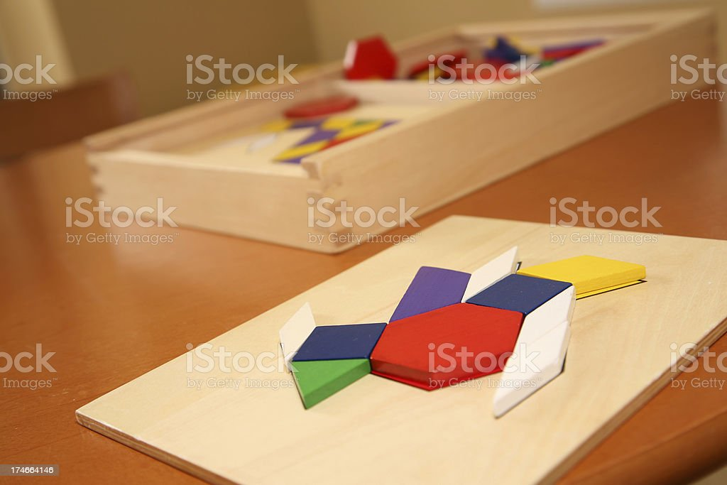 Shape and Colors Learning Toys royalty-free stock photo
