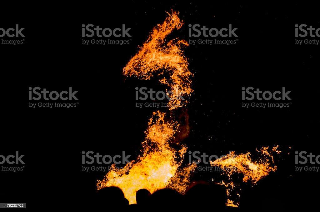Shape of dragon stock photo