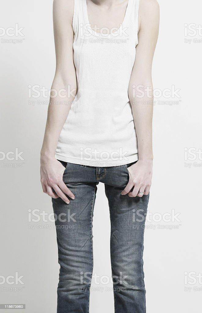 Forma de mujer delgada foto de stock libre de derechos